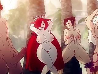 Comic animado porno muy caliente
